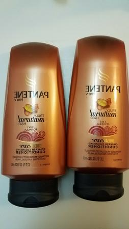 2 NEW Pantene Pro-V Truly Natural Hair Co-Wash Cleansing Con