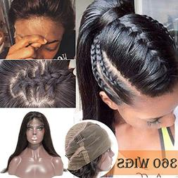 360 Lace Frontal Wig Brazilian Human Hair Wig 16 Inch Pre-pl