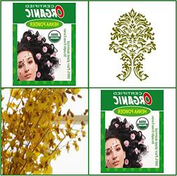 100g Certified Organic Henna Powder for Hair Color Conditio