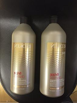 Redken Frizz Dismiss Shampoo and Conditioner 33.8 Ounce Each