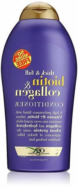 OGX Biotin & Collagen Thick Full Hair Shampoo, Conditioner a