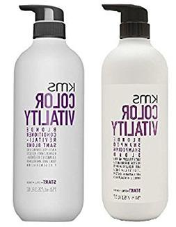 KMS Color Vitality BLONDE Shampoo & Conditioner 25.3 oz / 7