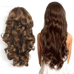 Cheap 7 Pieces Clip in Synthetic Hair Extension Natural Wavy