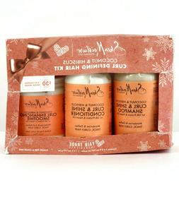 coconut and hibiscus curl defining hair kit