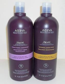 AVEDA INVATI SHAMPOO & CONDITIONER -REDUCES HAIR LOSS- 1 Lit