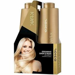 Joico K-PAK Shampoo & Conditioner Fine Hair Liter Duo Set, 3