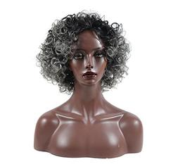 Kinky Curly Hair Wigs for Black Women Fluffy Wavy Synthetic