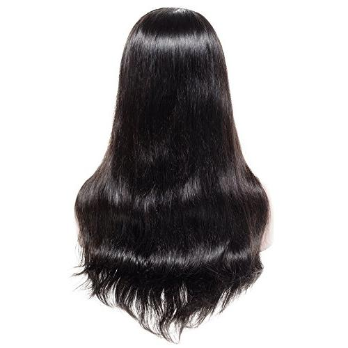 360 Brazilian Human 16 Inch with Baby Hair for Black Women Wigs Black
