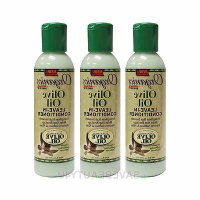 3Pc Africa's Best Organics Olive Oil Leave-In Conditioner St