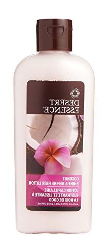 Desert Essence Coconut Shine & Refine Hair Lotion - 6.4 fl o