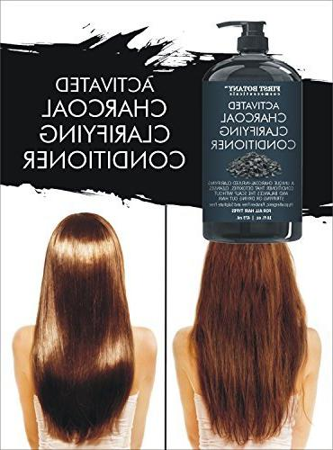 Activated Charcoal Hair Conditioner and Women 16 fl. - Volumizing on Treated Hair. Keratin.