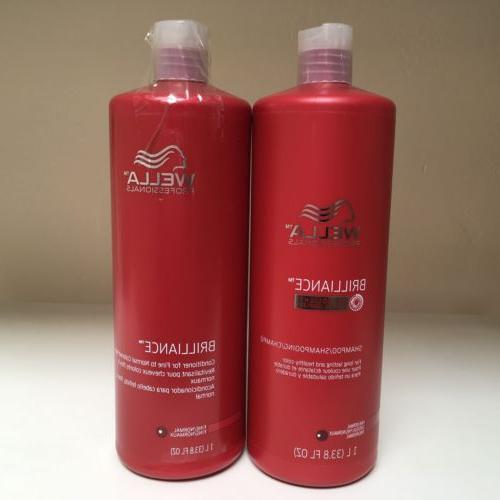 WELLA Brilliance Shampoo & Conditioner Fine/Normal Colored H
