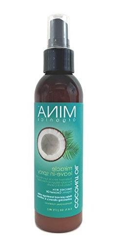 Coconut Oil Miracle Leave In Spray 5.8 ounce  by Mina Organi