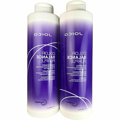 color balance purple shampoo and conditioner protects