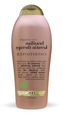 OGX Conditioner, Ever Straight Brazilian Keratin Therapy, 25