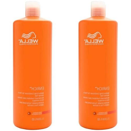 Wella 33.8 oz Enriched Moisturizing Conditioner For Fine To