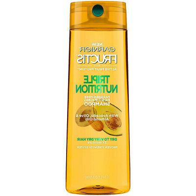 Garnier Hair Care Fructis Triple Nutrition Shampoo, 12.5 Flu