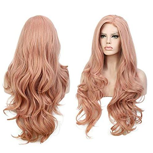 Cinhent Human Hair Inches New Women's Full Curly, Pink, Wash