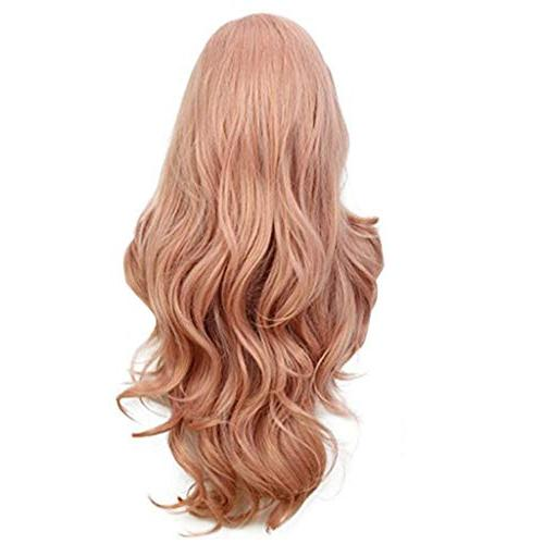 Cinhent Inches New Women's Fashion Curly, Pink, Adjustable, Easy Wash