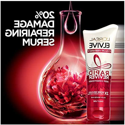 L'Oréal Elvive Vibrancy Rapid Conditioner, Color-Treated Hair, No with and