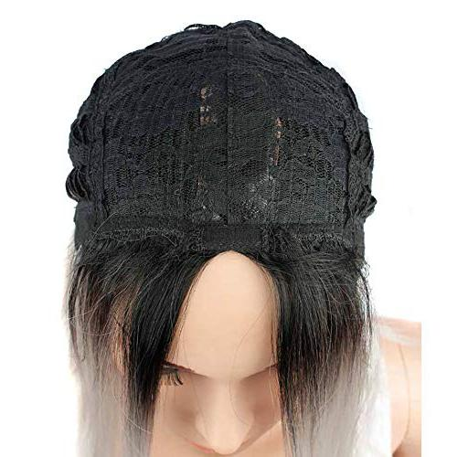 """Cinhent 14"""" Straight Synthetic Full Wigs for Looking Heat Women's in the Gradient Wig Head"""