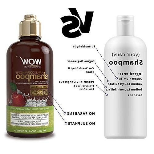 WOW Cider Shampoo & Hair Set - Increase Hydration, - Dandruff & - No Parabens or - Types, Adults Children - mL