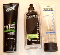 Lot of 3 TreSemme Hair Care Products - Curls, De-frizzing, V