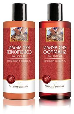 Red Argan Shampoo & Conditioner Set Moroccan Oil Hair Treatm