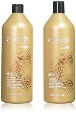 Redken All Soft Conditioner & Shampoo 33.8 OZ each