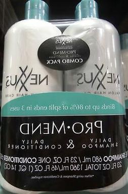 Nexxus Salon Hair Care Pro Mend 23Fl OZ Daily Shampoo & 23Fl