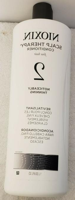 Nioxin Scalp Therapy Conditioner Fine Hair System 2, 33.8oz