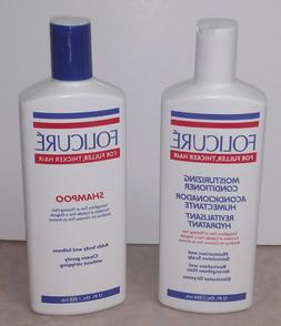 Folicure Shampoo & Conditioner for Fuller Thicker Hair, 12 o