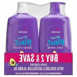 Shampoo and Conditioner Aussie Miracle Moist Paraben-Free Bu