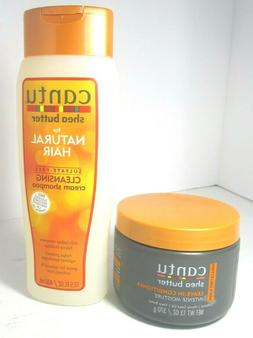 Cantu Shea Butter Leave in Conditioner 13 oz & Cleansing Cre