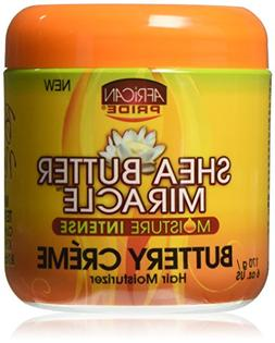 African Pride Shea Butter Miracle Buttery Creme, 6 Ounce