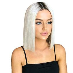short straight synthetic hair looking