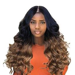 synthetic brown long curly hair