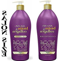 OGX Thick & Full Biotin & Collagen Shampoo & Conditioner, Sa