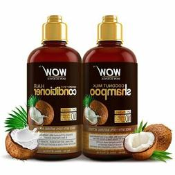 WOW Coconut Milk Shampoo + Hair Conditioner Set - Natural hy